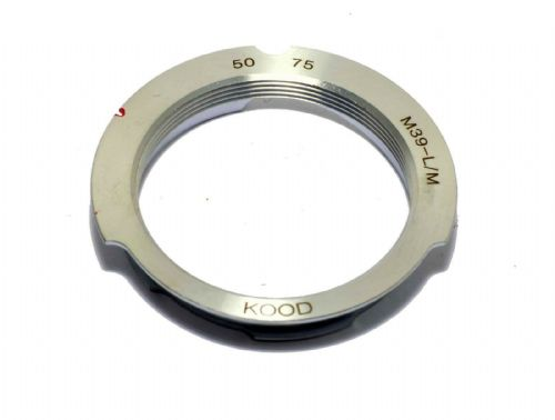 M39 Screw to Leica M Mount Adapter 50-75 framelines 50mm 75mm Chrome / Brass